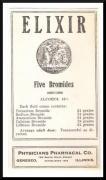 Elixir Five Bromides, Potassium, Sodium, Ammonium, Calcium, Lithium, antique