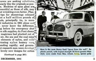 ShareThis  sc 1 st  Herb Museum & Popular Mechanics: Fordu0027s Plastic Car (1941) | Herb Museum markmcfarlin.com