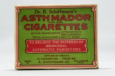 Dr. R. Schiffmann's Asthmador Cigarettes, Stramonium, Belladonna, Nightshade