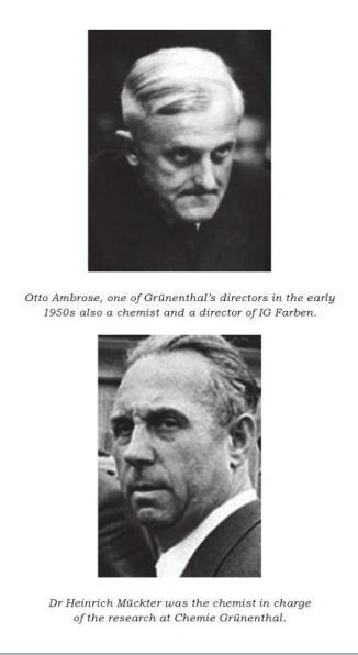 Otto Ambrose, Dr. Heinrich Muckter, Thalidomide, Grunenthal, Nazi