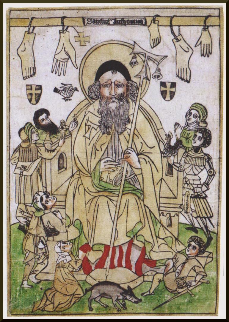 """St. Anthony, """"ignis sacer"""", heiliges feuer, mal des ardents"""