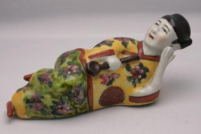 Woman Opium Smoker Figurine