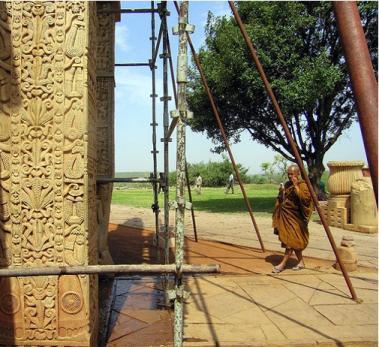 Pillar at Temple of Sanchi